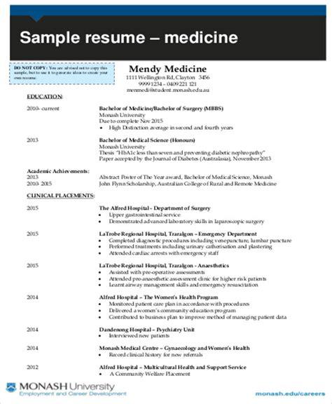 medical student cv 7 student cv sles sle templates