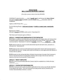 construction project brief template construction contract template 11 free word pdf