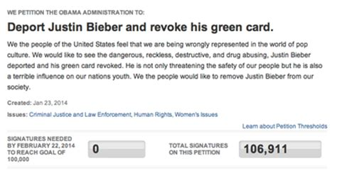 justin bieber house address the white house has to address the idea of deporting justin bieber philly
