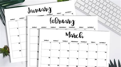 printable  monthly calendar classic lovely planner
