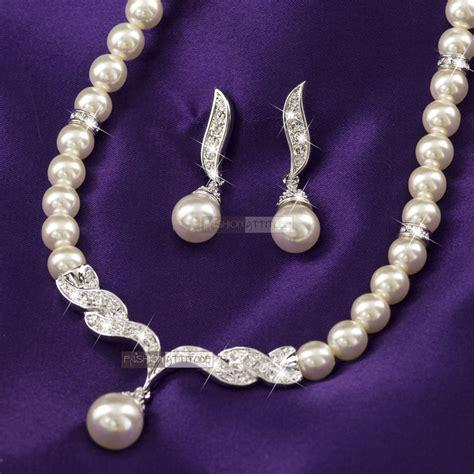 18k white gold gf made with swarovski pearl