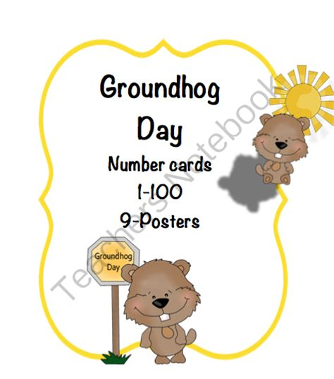 groundhog day one day groundhog day number cards 1 100 preschool printables