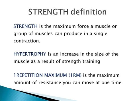 definition theme of resistance strength training shmd 8 ppt video online download