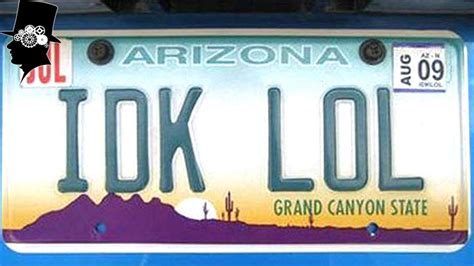 and creative vanity license plates
