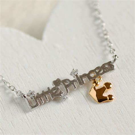 sterling silver princess necklace by highland
