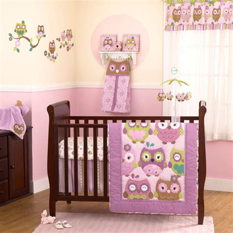 owl crib bedding sets cocalo coco company owl wonderland 4 piece crib bedding