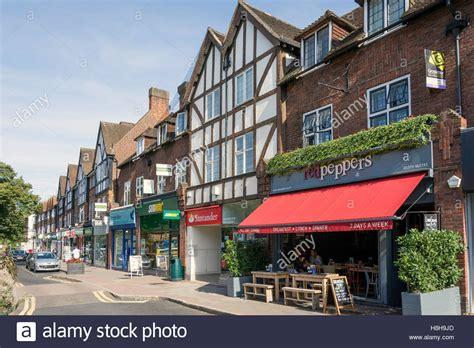 high street british companies united kingdom uk esher high street stock photos esher high street stock