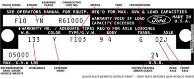 Ford Truck Vin Decoder Decoding 73 79 Ford Truck Vin Tags Fordification Net
