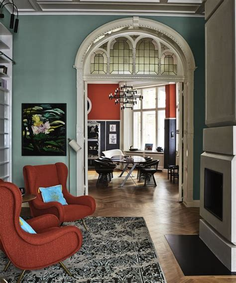 Farrow And Colour Schemes For Living Rooms by Entrance With Walls Painted In Farrow Dix Blue