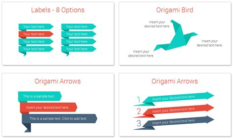 Origami Information - origami infographics for powerpoint presentationdeck