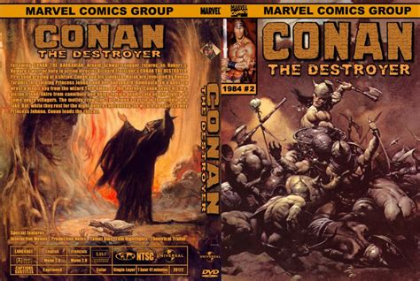 conan the destroyer dvd cover conan the destroyer movie dvd custom covers 733marvel