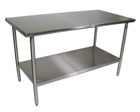 Stainless Steel Table Shelf boos 16ga stainless steel work table with shelf