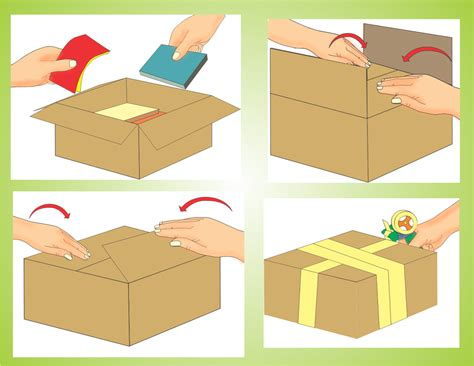 how to put a box together how to construct moving boxes 4 steps with pictures