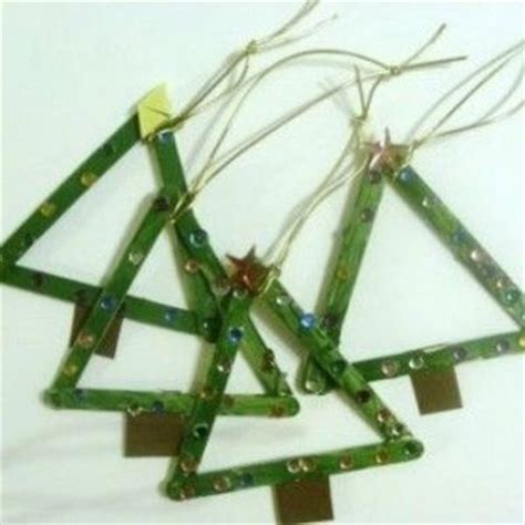 popsicle stick christmas tree ornament preschool items