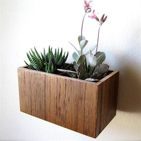 indoor wood planter wood wall planter dotandbo com where the heart is