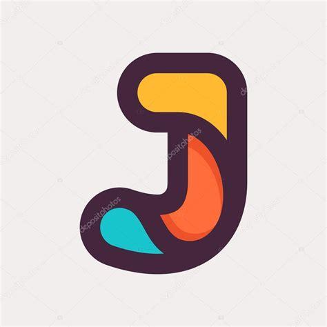 J letter colorful logo. Flat style design. — Stock Vector ... J Logo