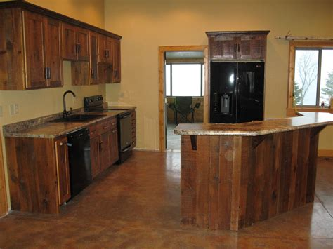 Kitchen With Wood Cabinets Log Furniture Barnwood Furniture Rustic Furniture Rustic Kitchen Cabinets Reclaimed Wood