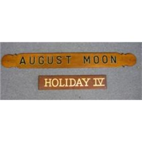 boat transom name boards two boat transom boards august moon and holiday iv