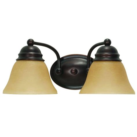 glomar 3 light mahogany bronze vanity light with chagne linen washed glass hd 1265 the home minka lavery 2 light chrome traditional bath vanity 5722 77 the home depot