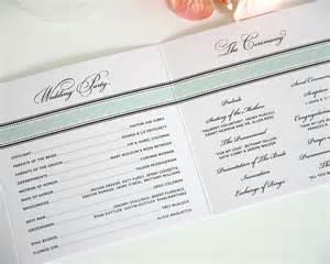 Examples sample wedding program wording examples wedding program