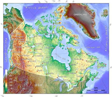 map of canada mountains canada
