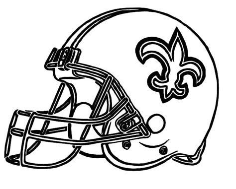 printable coloring pages nfl football helmets helmet saints new orleans coloring pages football