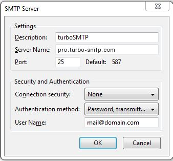 1and1 smtp settings android