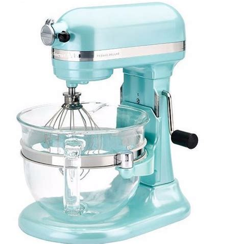 Mixer W Bowl Signora details about blue kitchenaid 6qt 575 watt glass bowl