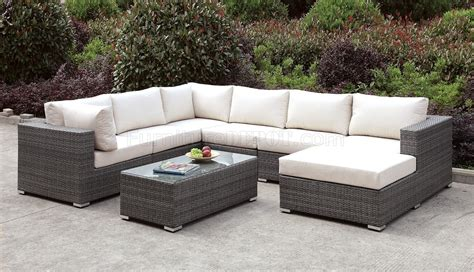 somani cm os2128 5 outdoor sectional sofa coffee table set