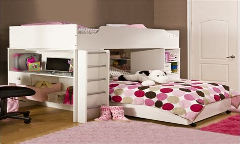 unique storage beds bunk beds  desk  girls room
