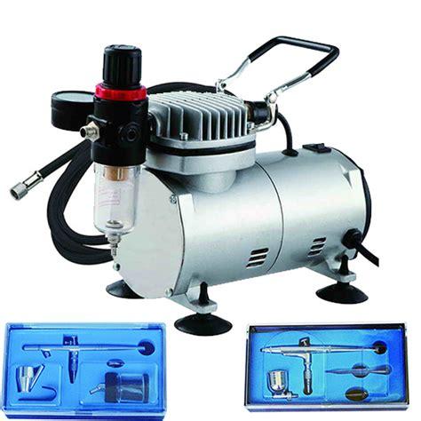 complete airbrush compressor kit tank nail tatoo nailart air brush gun hose ebay
