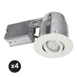 bazz 300 series 4 in white recessed led gu10 light