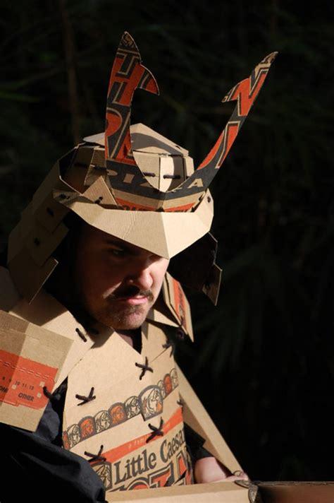 How To Make A Samurai Helmet Out Of Paper - pizza samurai costume serious eats
