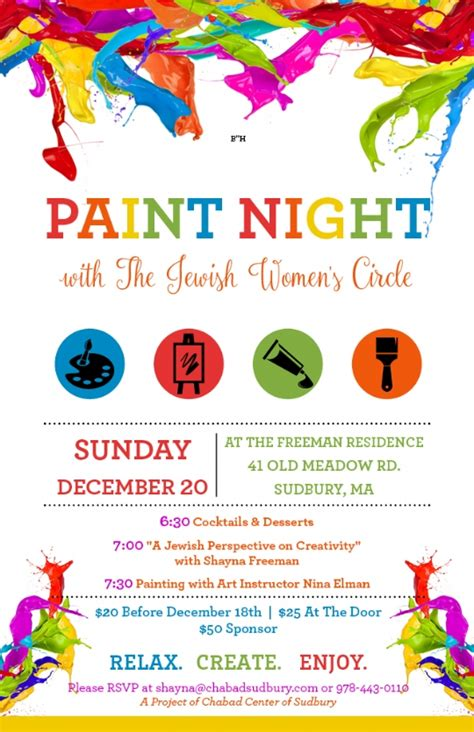 paint nite sudbury paint for dec 20th chabad center of