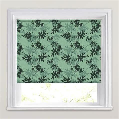 green patterned roller blind rich light dark green floral shadow patterned roller blinds