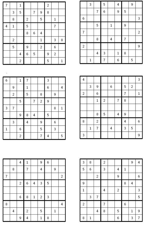 printable sudoku hard 4 per page pin le sudoku grille vierge on pinterest