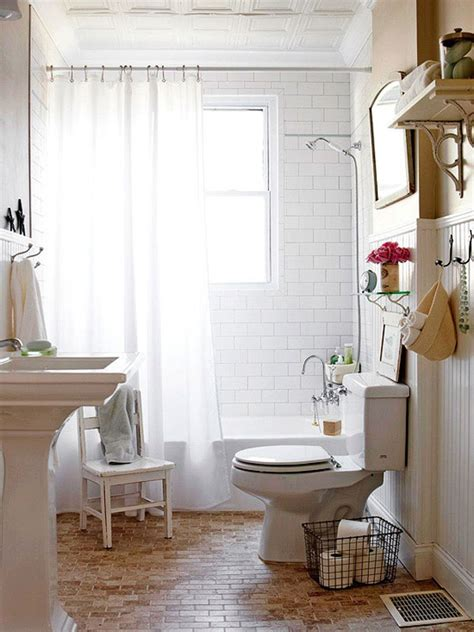 small vintage bathroom ideas hogares frescos 30 ideas para cuartos de ba 241 os peque 241 os y