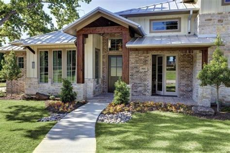 Contemporary Front Doors Front Entrance Contemporary Hill Country Style Has Lots