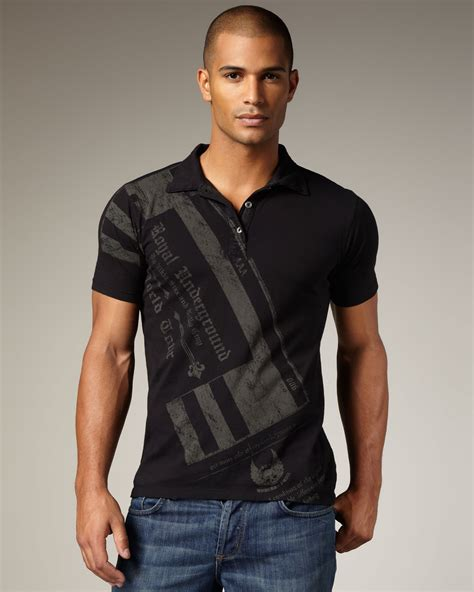 Rocking Fashion By Royal Underground by Royal Underground Ticket Polo In Black For Lyst