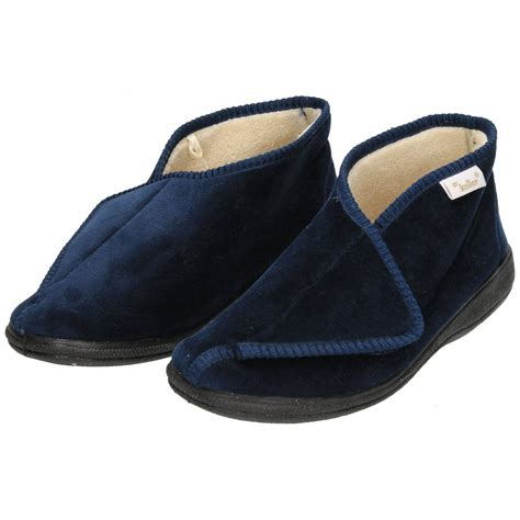 fleece slippers dr keller memory foam velcro fleece cosy slippers boots