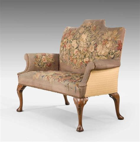queen ann sofa queen anne design walnut two seater sofa at 1stdibs