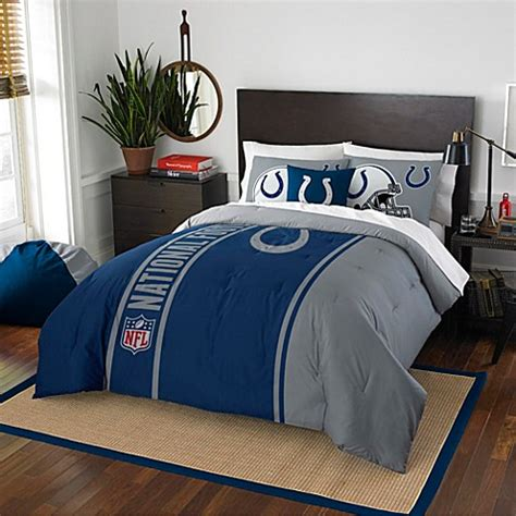 Colts Crib Bedding Nfl Indianapolis Colts Embroidered Comforter Set Bed