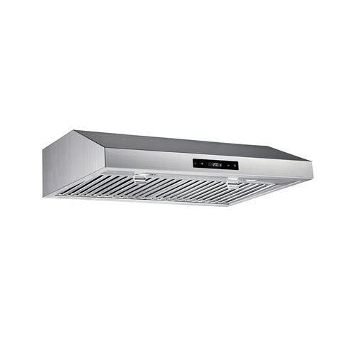 stainless steel under cabinet range hood vissani 30 inch 460cfm under cabinet range hood in