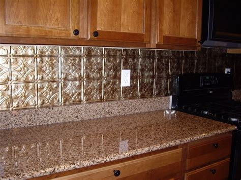tin tile backsplash ideas kitchen how to apply faux tin backsplash for kitchen