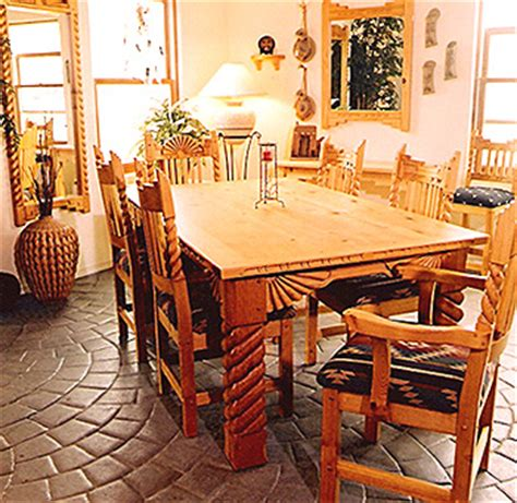 Southwestern Dining Room Furniture | southwest dining furniture sets chairs china cabinets