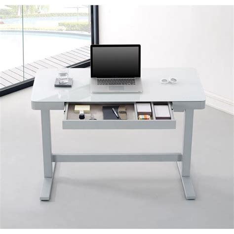 desks adjustable height adjustable height desk white d odp10444 48d908