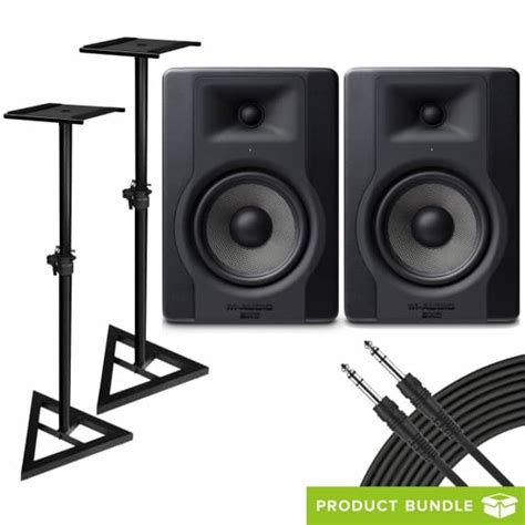M Audio Bx5 by M Audio Bx5 D3 Pair With Speaker Stands Cables M