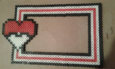 bead frame perler bead pokeball picture frame photo by