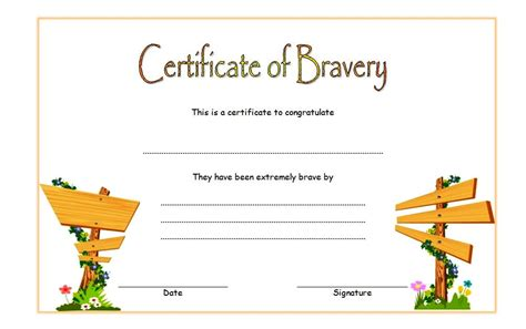 bravery certificate template bravery award certificate template 4 the best template