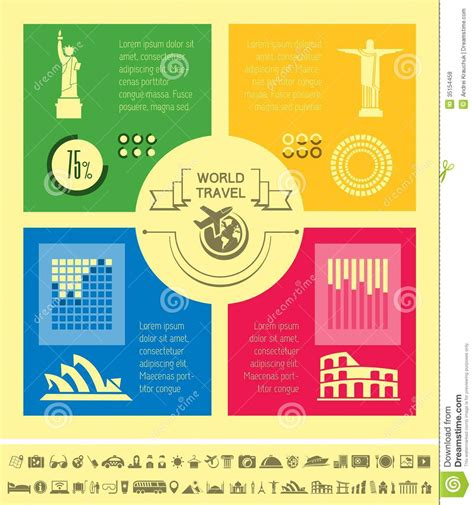 Travel Infographic Template Royalty Free Stock Photos Image 35154458 Travel Infographic Template
